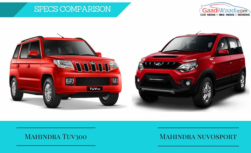 Mahindra TUV300 vs Mahindra Nuvosport