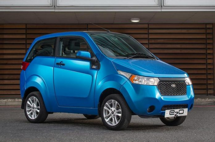 Mahindra e2o electric car launched in UK 1