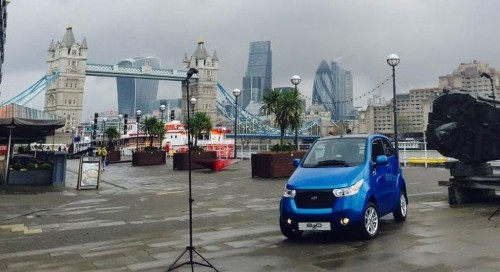 Mahindra e2o electric car launched in UK