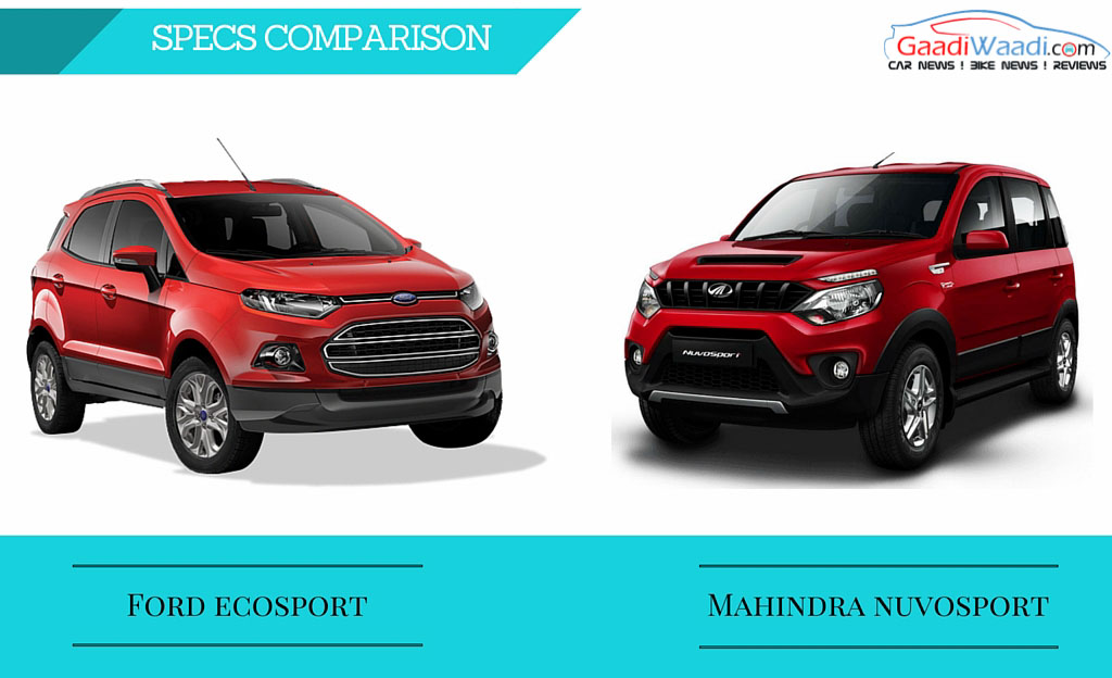 Mahindra nuvosport vs ford ecosport comparison