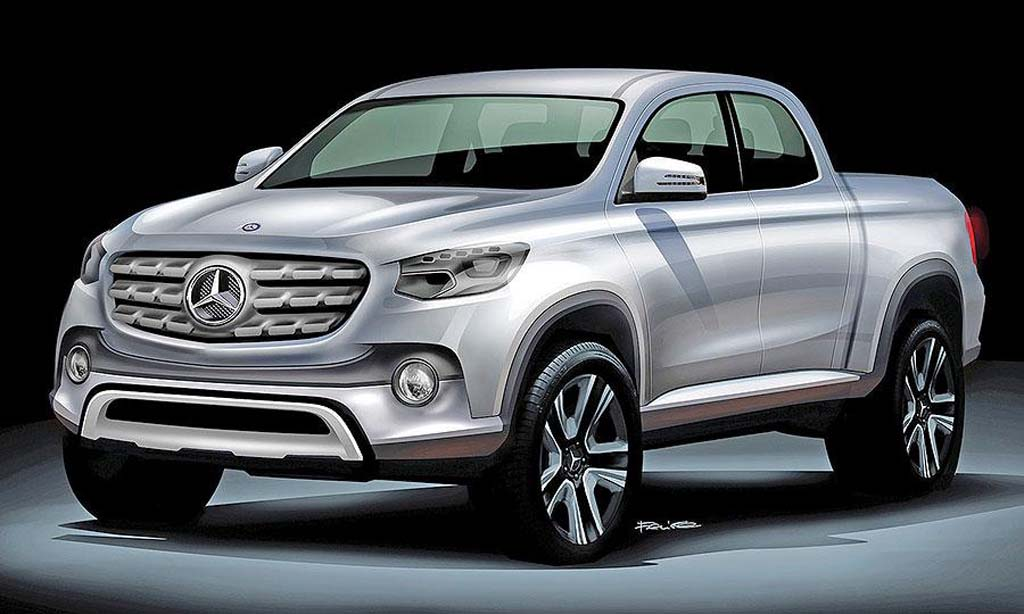 mercedes benz pickup to be showcased at upcoming paris