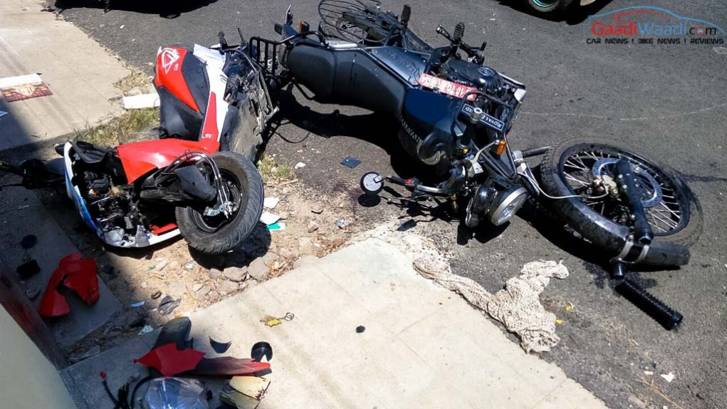 First Royal Enfield Himalayan Accident Reported In Chennai