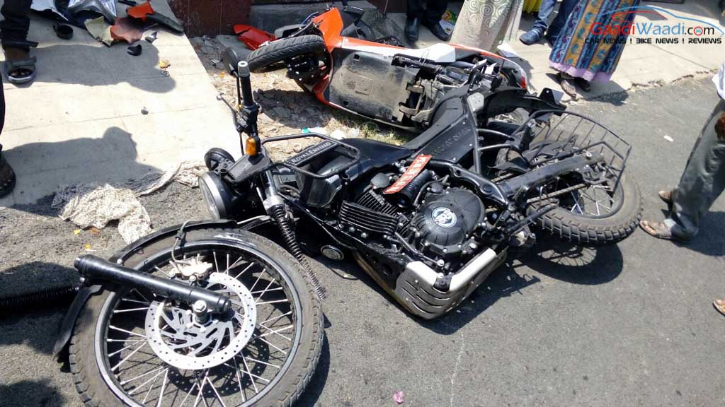 Royal Enfield Himalayan Bike Accident in Chennai-3