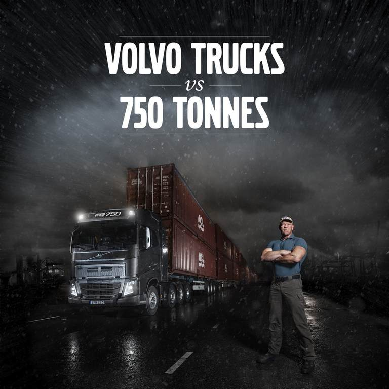 Volvo Truck Pulls 750 Ton 1