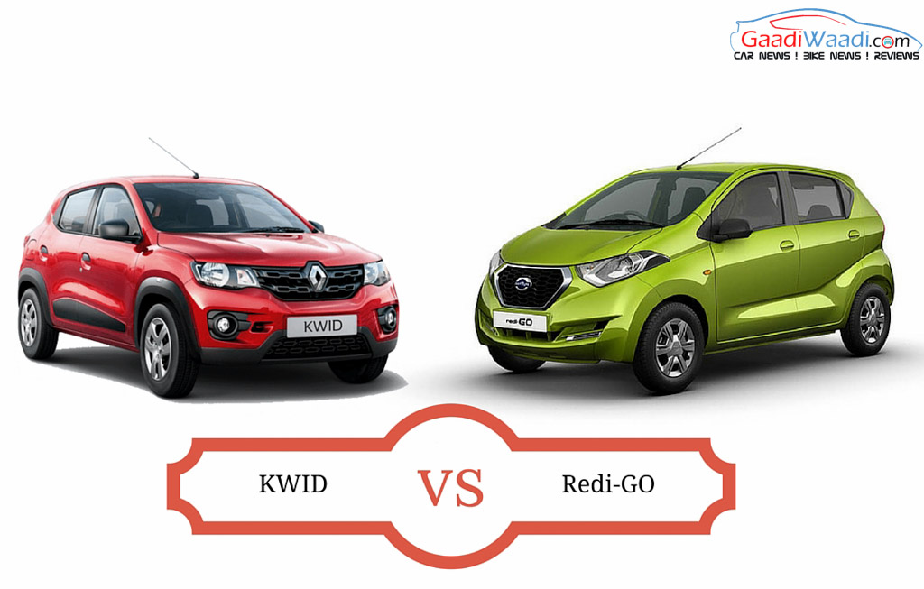 Datsun RediGo vs Renault Kwid: Spec Comparison ...