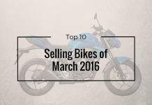 top 10 sellings bikes of March 2016