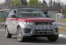 2017 Range Rover Sport Spotted Testing Front side