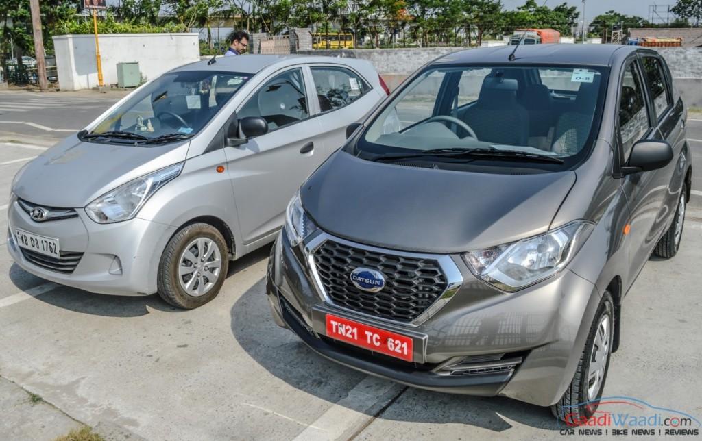 Datsun Redigo Vs Hyundai Eon Spec Comparison Gaadiwaadi