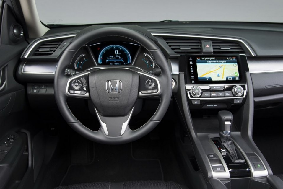 India-bound Honda Civic tenth generation interior