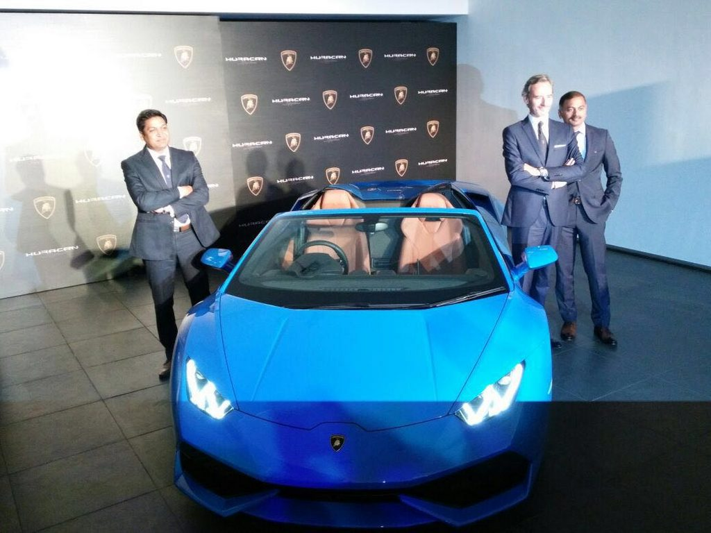 Lamborghini Huracan Spyder LP 610-4 Launched in India 3