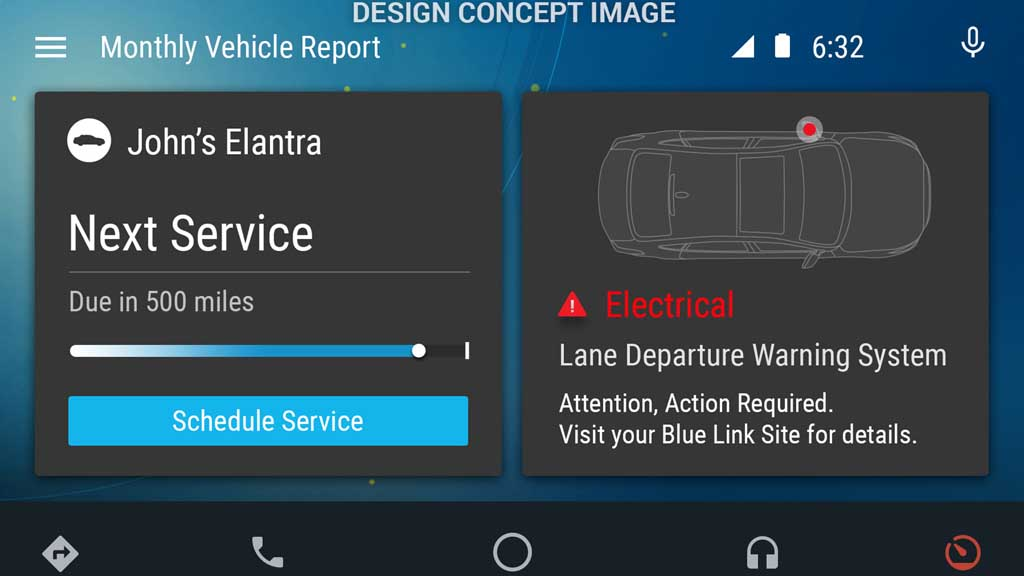 hyundai developing its own unique android auto app india cars news bike news. Black Bedroom Furniture Sets. Home Design Ideas