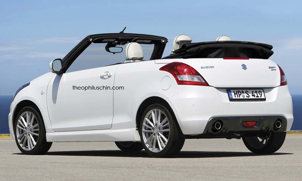 Topless Maruti Suzuki Swift Imagined Gaadiwaadi Com