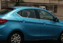 Tata Kite 5 Sedan Spied in blue colour 1