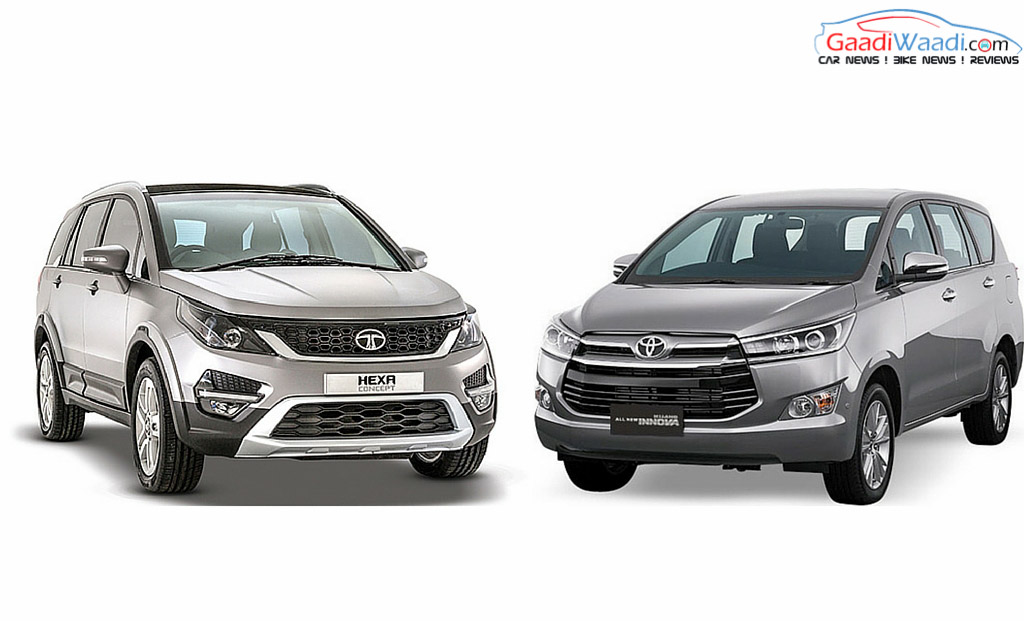 Toyota Innova Crysta Vs Tata Hexa Specs Comparison