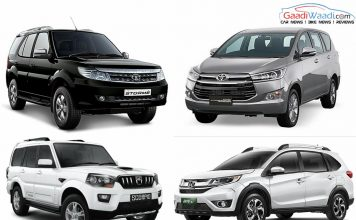 Toyota Innova Crysta vs Tata Safari Storme vs Mahindra Scorpio vs Honda BR-V- Spec comparison
