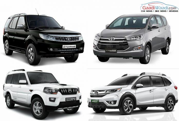 Toyota Innova Crysta vs Tata Safari Storme vs Mahindra Scorpio vs ...
