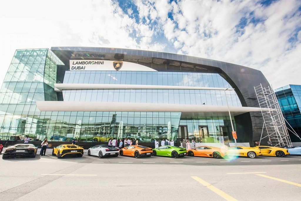 World's Largest Lamborghini Showroom Opened in Dubai