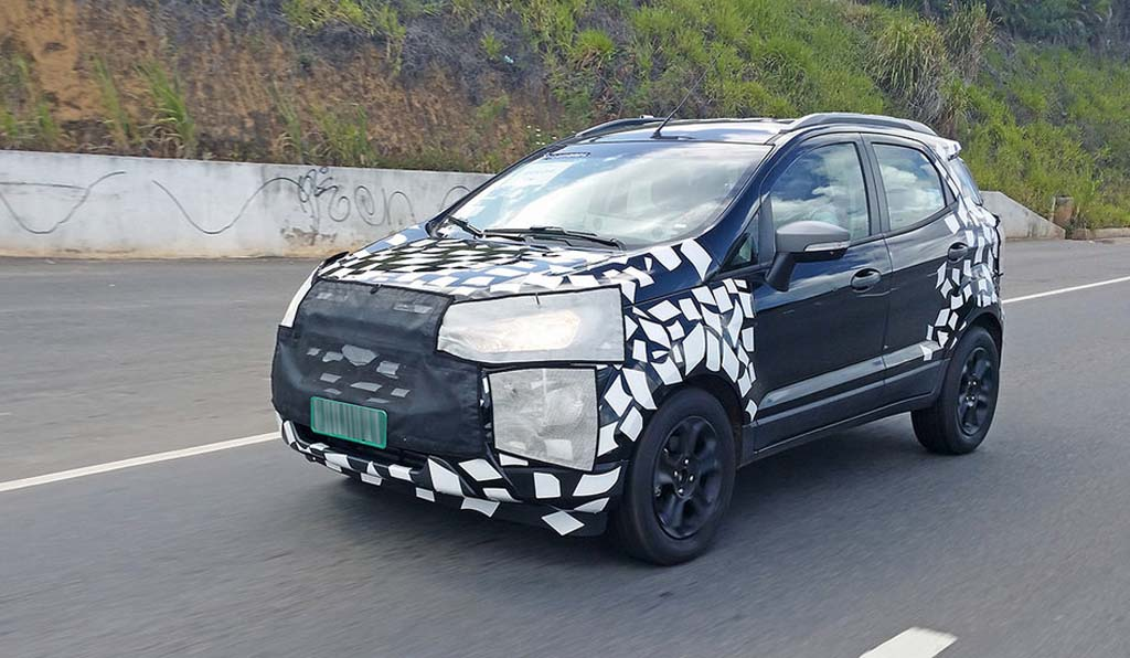 2017 ford ecosport facelift spied testing again. Black Bedroom Furniture Sets. Home Design Ideas