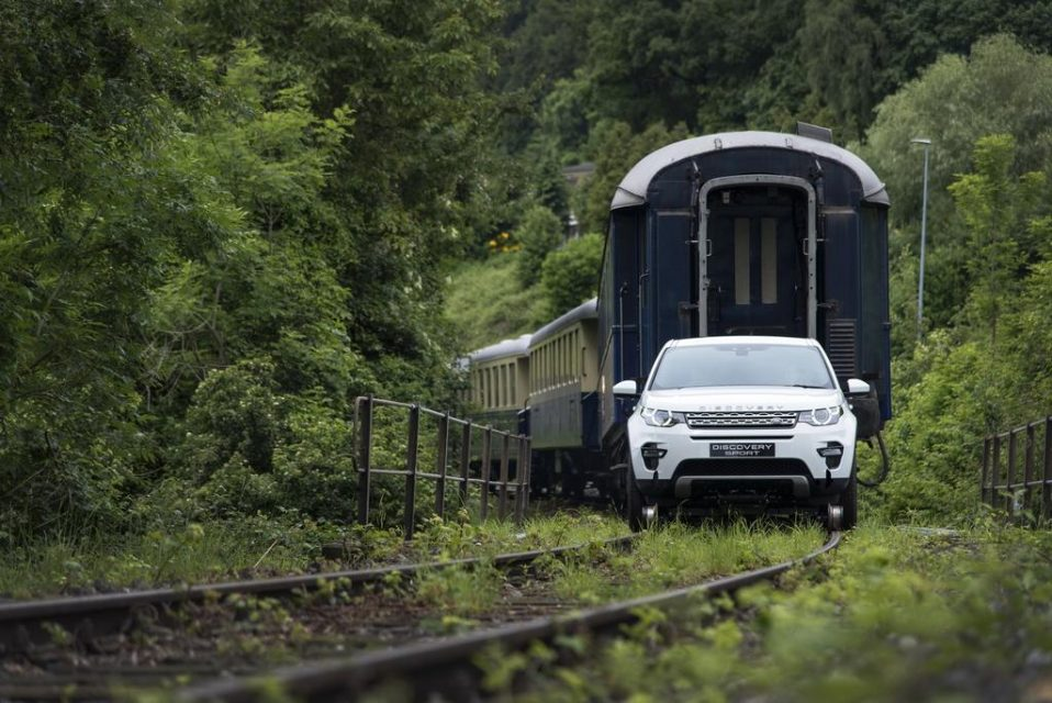 Land Rover Discovery Sport Pulls Train 2