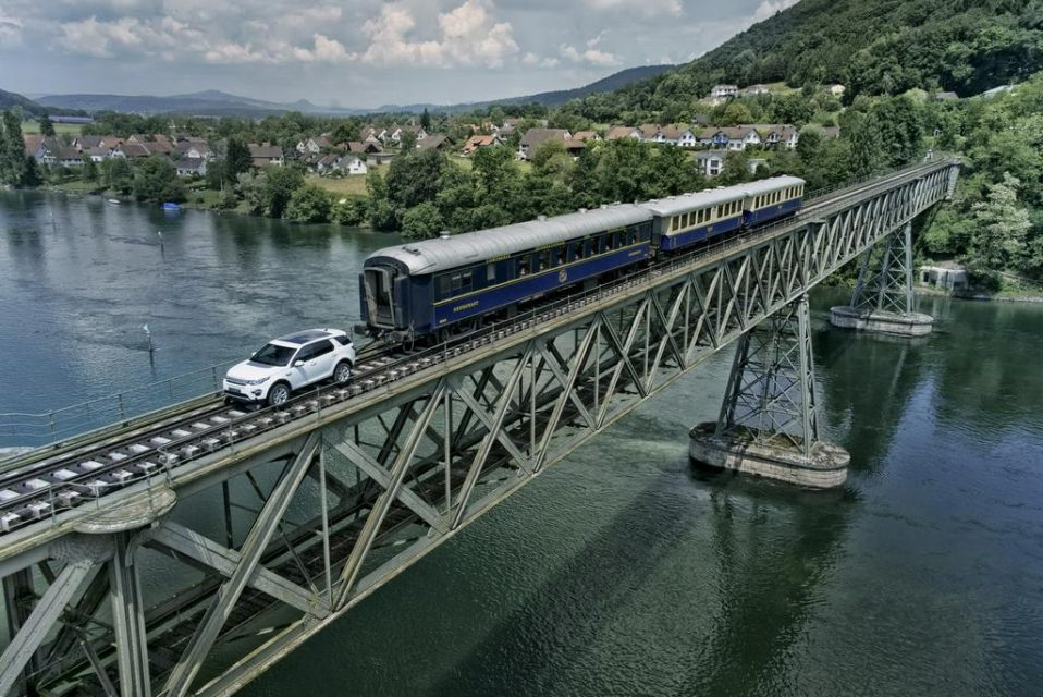Land Rover Discovery Sport Pulls Train 4