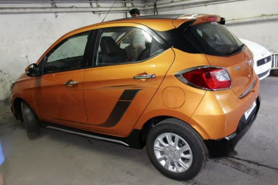 Tata Tiago Aktiv Spied At Dealership Ahead Of Launch