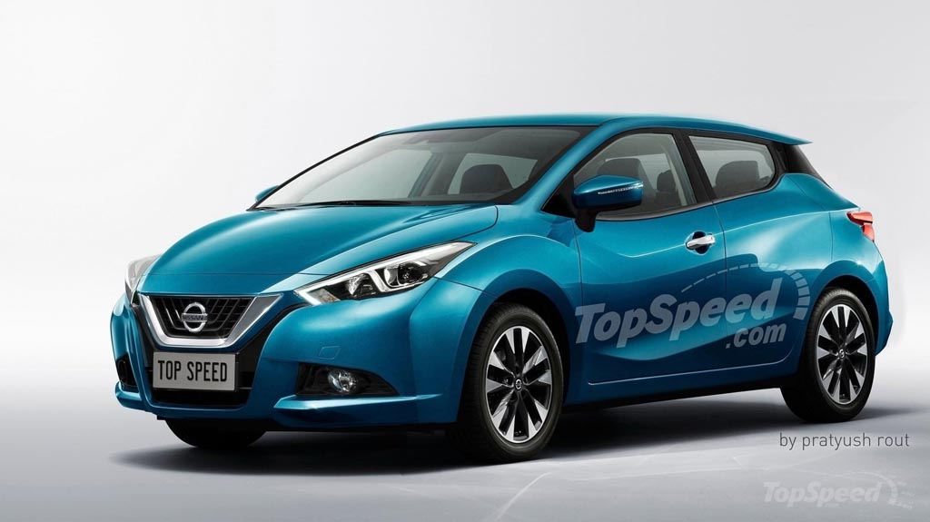 new generation nissan micra looks incredibly aggressive in new rendering. Black Bedroom Furniture Sets. Home Design Ideas