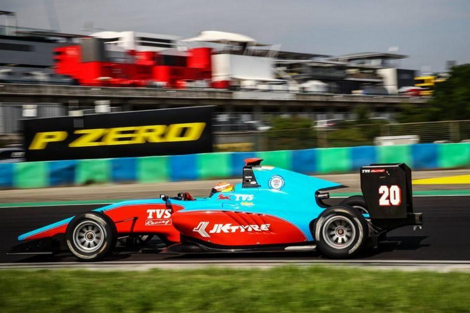 Arjun Maini GP3 Hungary podium 1