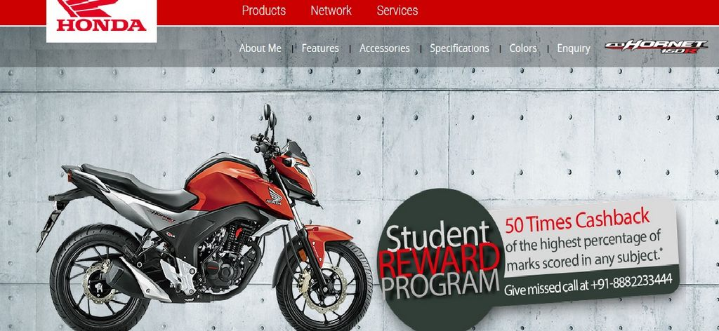 Honda CB Hornet 160R Student Reward Program