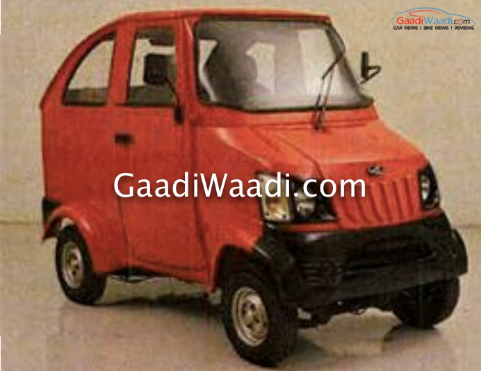 Mahindra gio quadricycle concept