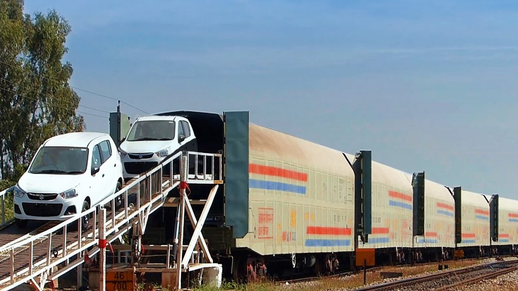 Maruti car freight train