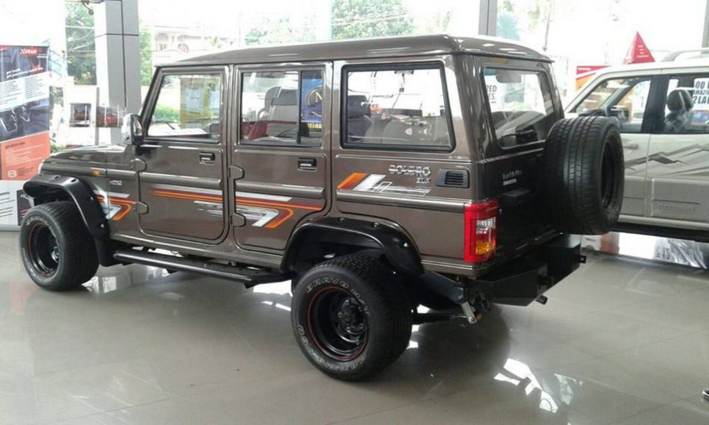 Modified Mahindra Bolero rear quarter