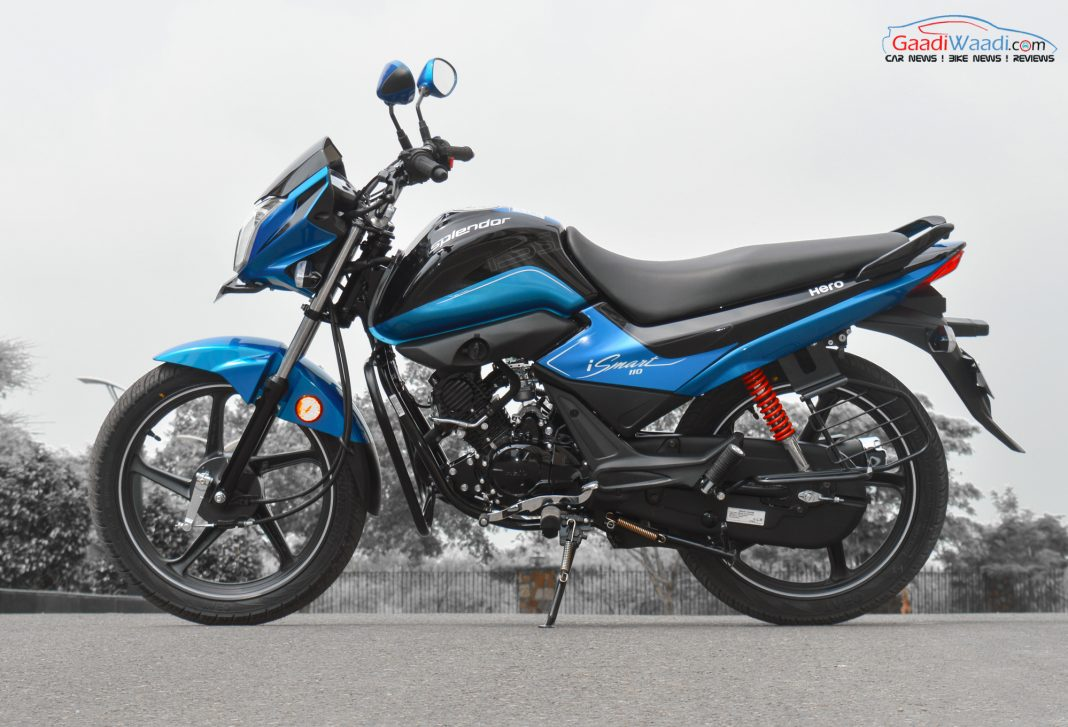 hero splendor 110cc ismart side view-3