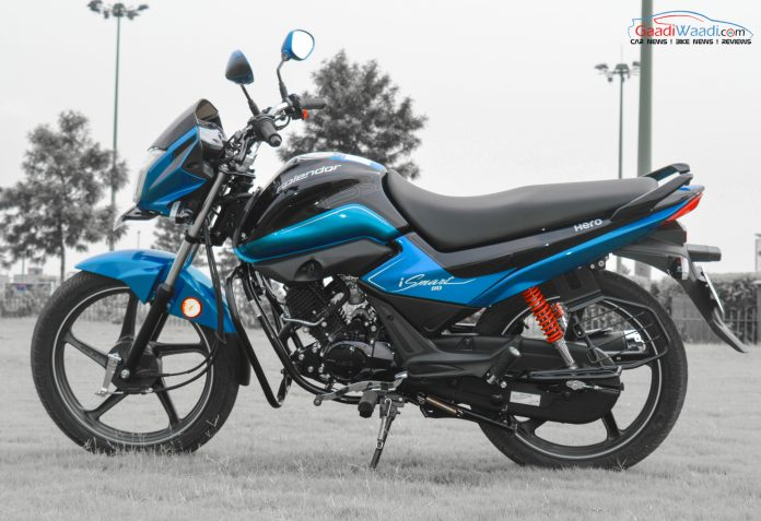 hero splendor 110cc ismart side view