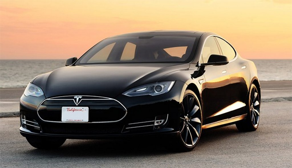 tesla model s sunset