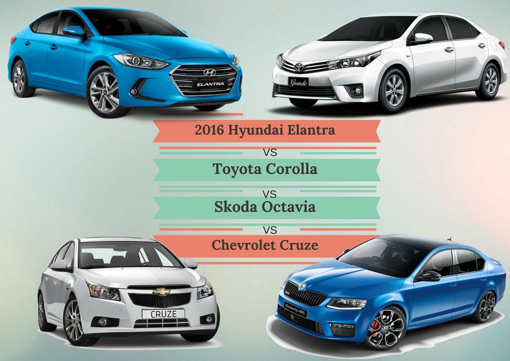 New Elantra Vs Corolla Vs Octavia Vs Cruze Specs Comparison