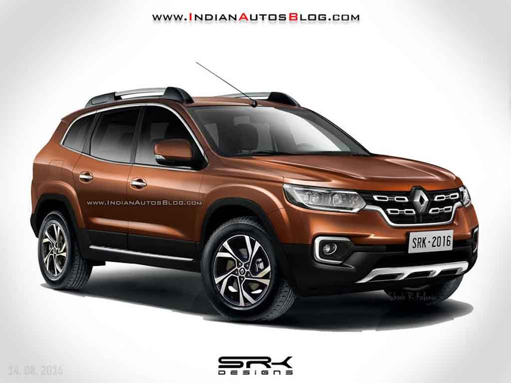 2018 renault duster imagined looks sportier rendering india cars news. Black Bedroom Furniture Sets. Home Design Ideas