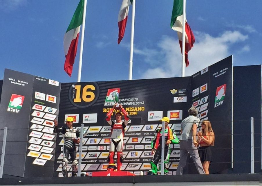 Mahindra Racing sweeps double win at the CIV Italian Racing Championship podium