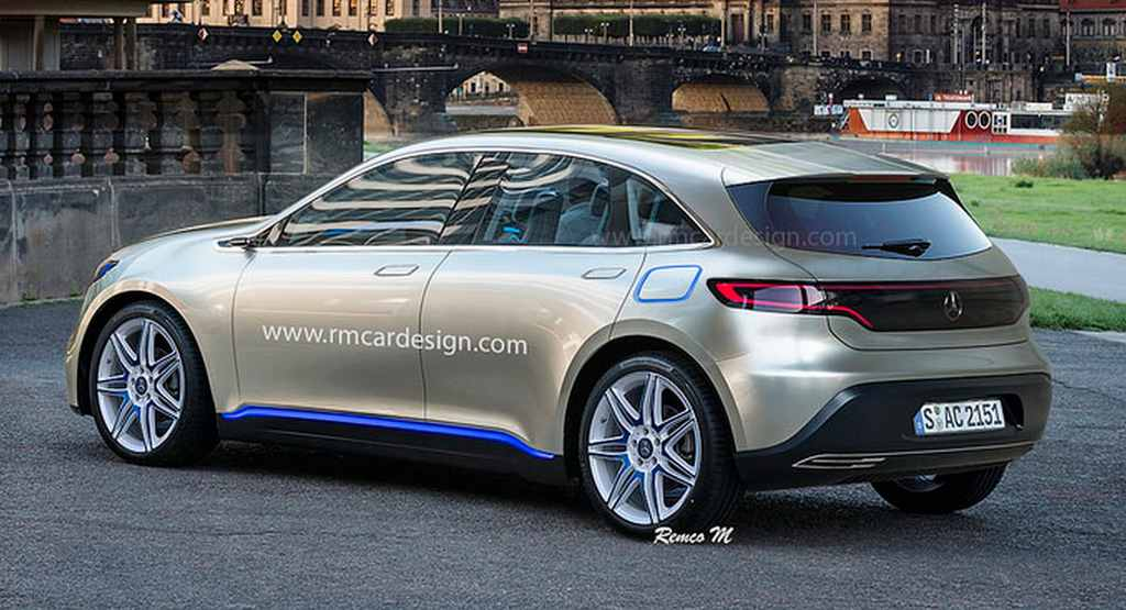 Mercedes benz eq compact ev hatchback rendered for New electric mercedes benz