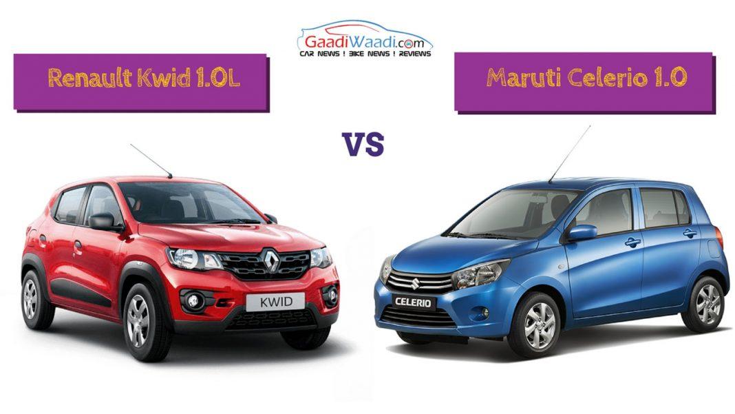 Renault Kwid 1000 vs maruti celerio petrol