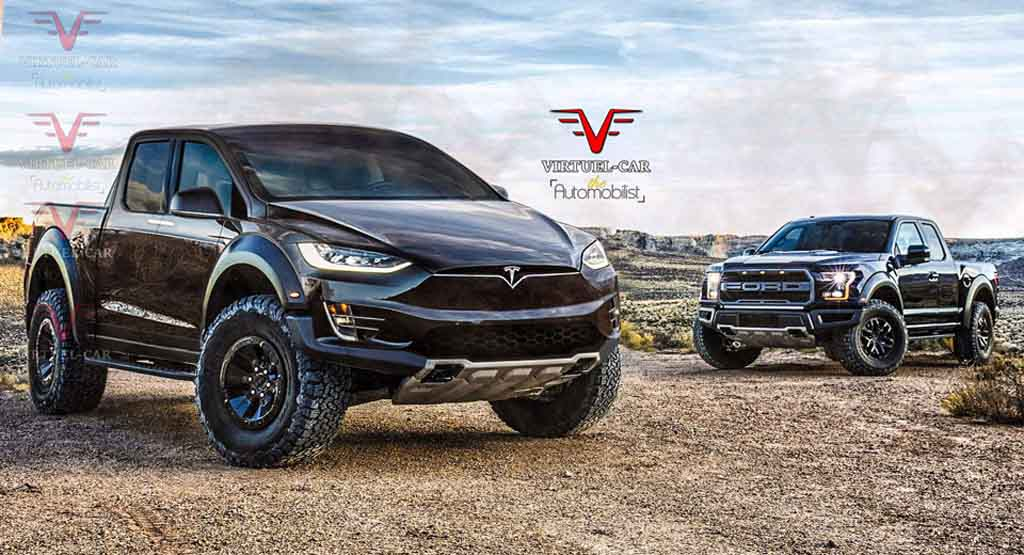 Electric Pickup Truck >> This Tesla Pickup Looks Absolutely Mean: Rendering - Gaadiwaadi.com - Car News, Bike News, Reviews