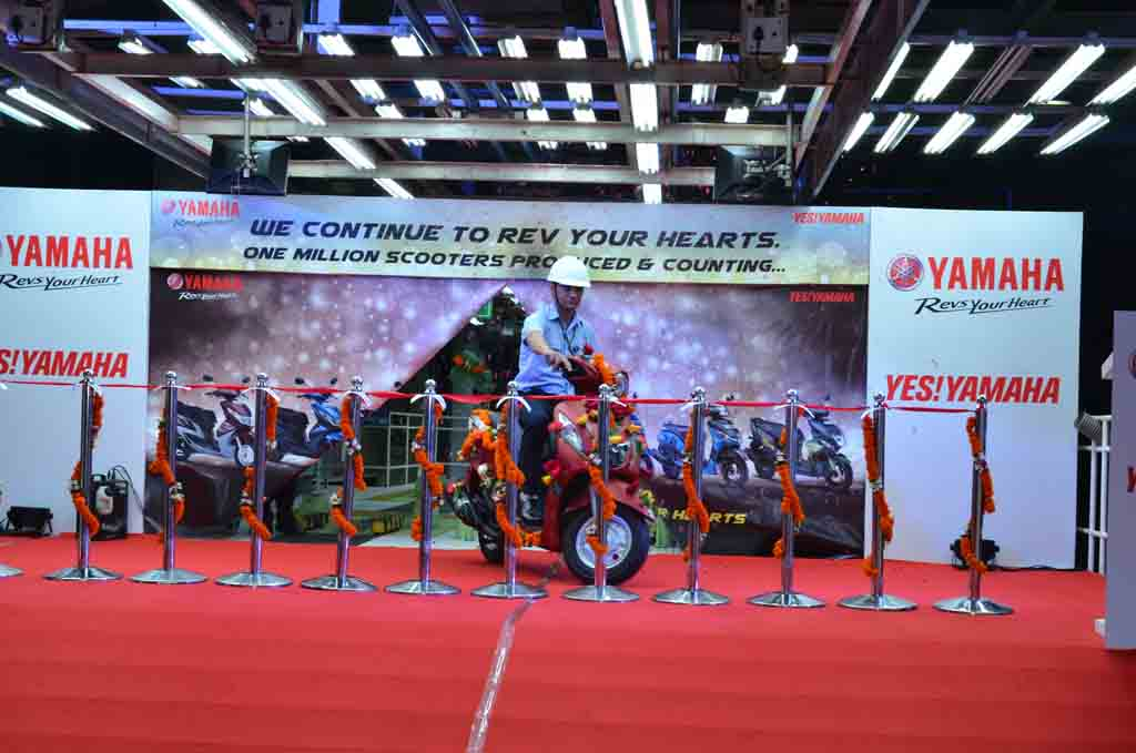 India Yamaha Motor Rolls Out One Millionth Scooter