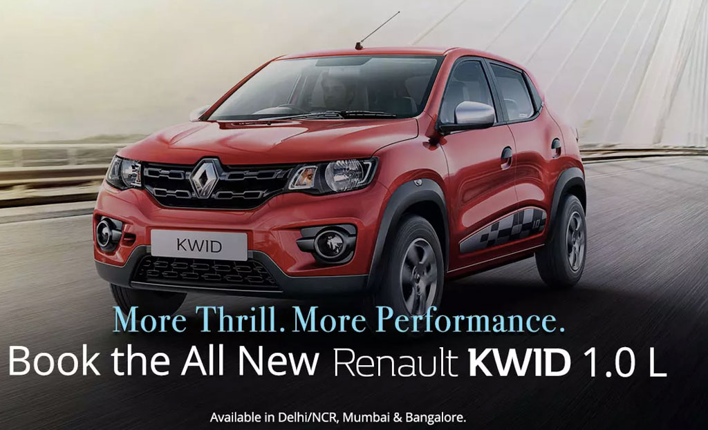 kwid 1000 booking open on paytm