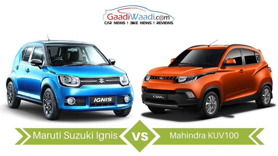 maruti ignis vs Mahindra kuv1005