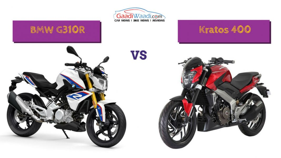 Bajaj Kratos 400 vs BMW G310R Comparison