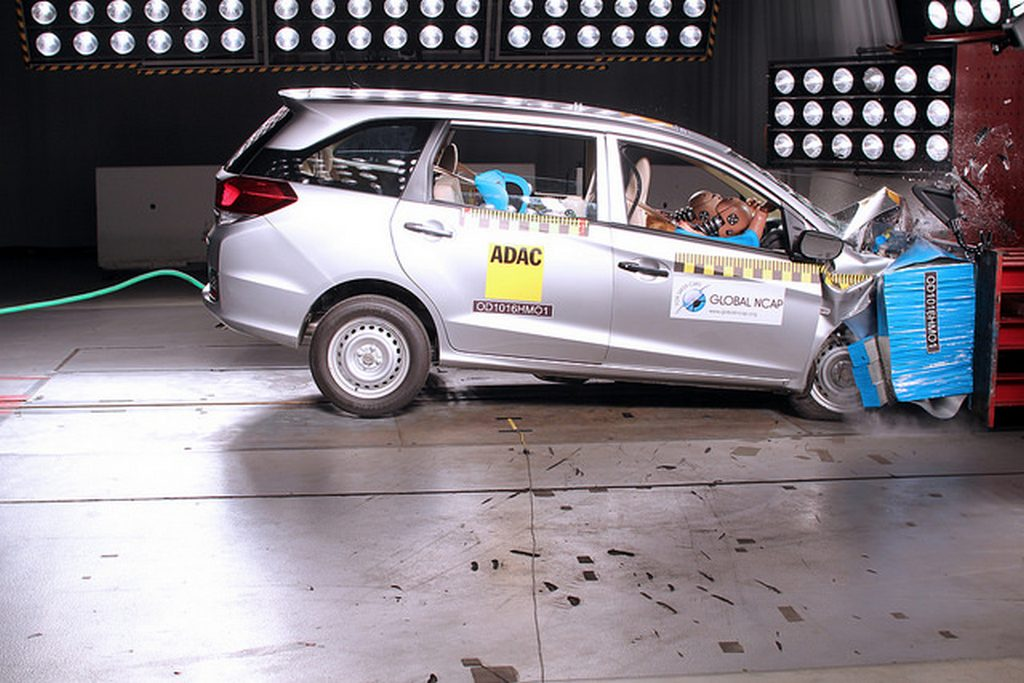 Base Variant Of Honda Mobilio Gets Zero Stars In Gncap Tests