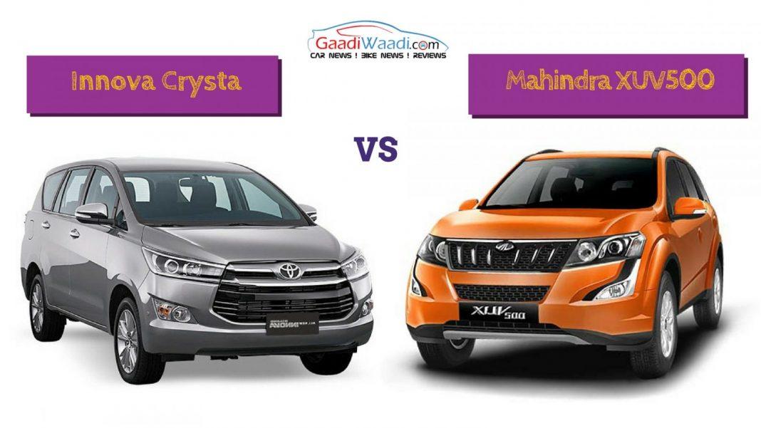 Innova Crysta vs Mahindra XUV500