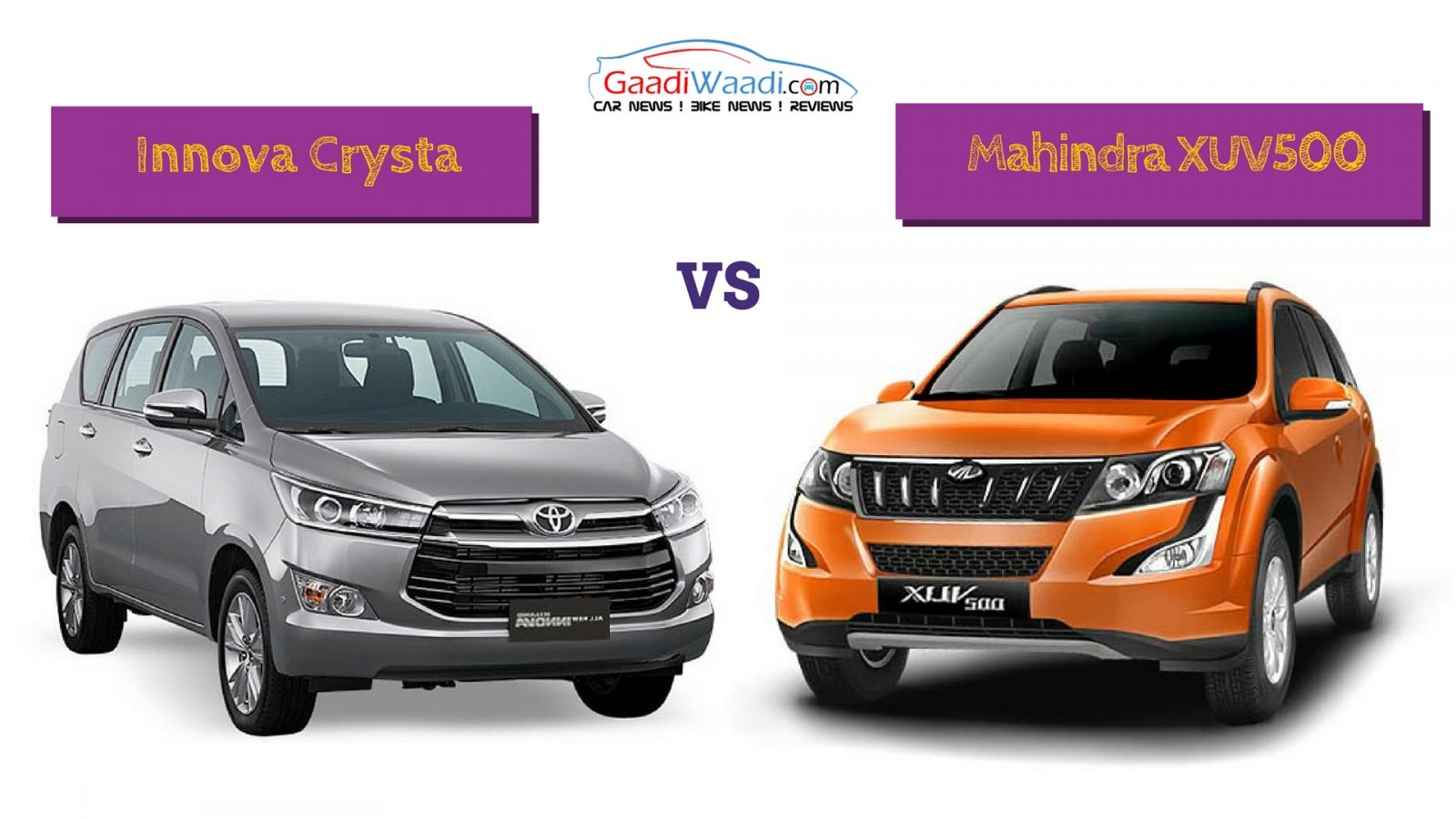 Toyota Innova Crysta Vs Mahindra Xuv500 Spec Comparison New
