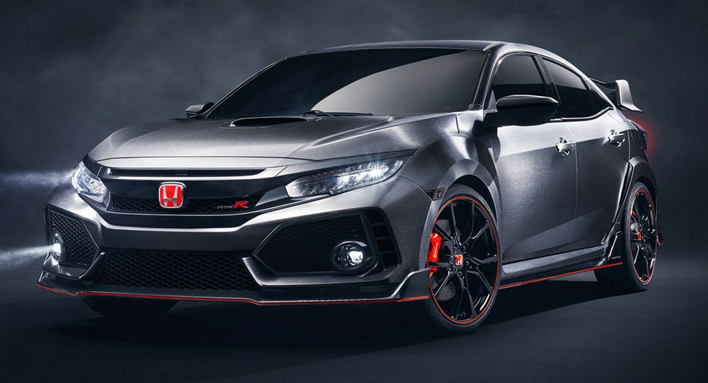 new honda civic type r concept revealed in paris   gaadiwaadi