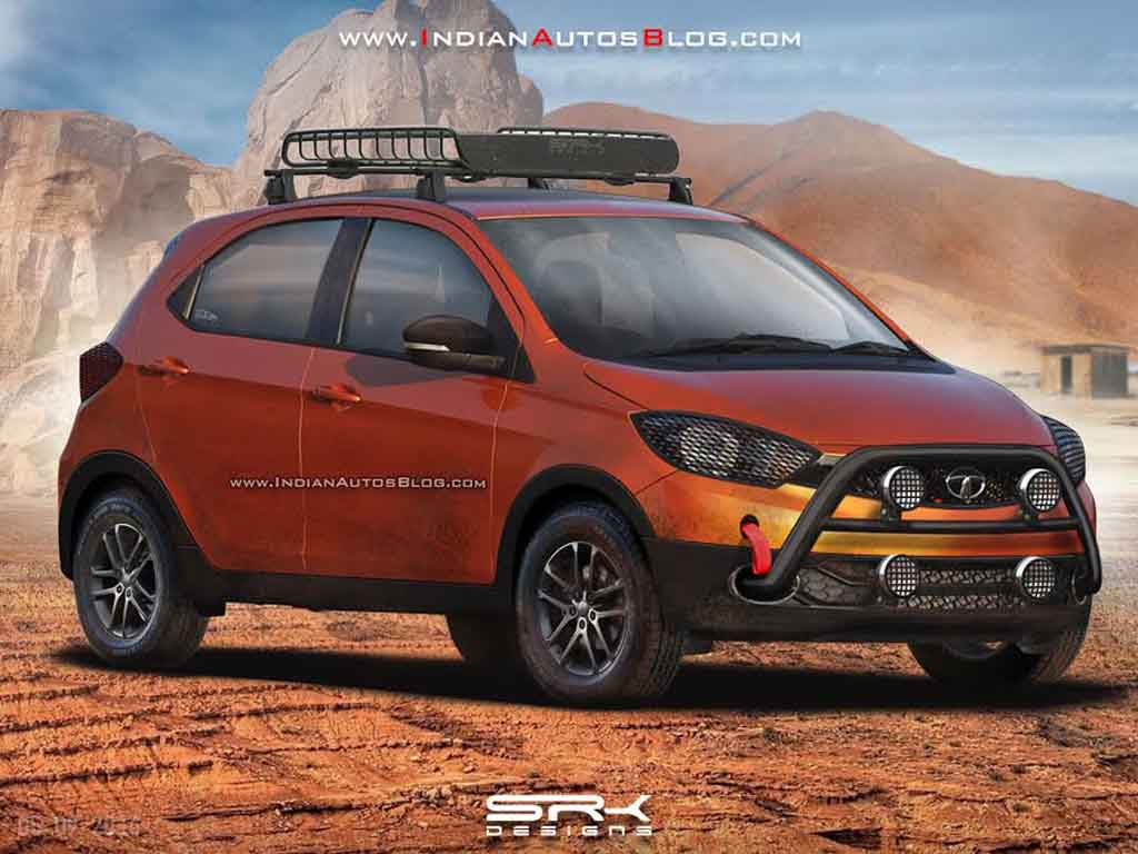 Tata Tiago Cross Rendering Looks Ready To Hit Dust And Mud