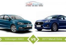 2017 Maruti Suzuki Dzire VS Volkswagen Ameo – Spec Comparison